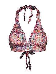 mystic frill halterneck bikini - AZALEA PINK