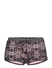 blossom bikini shorts - BLACK