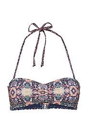 blossom bandeau bikini top - FRENCH NAVY