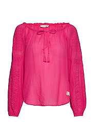 superflow blouse - HOT PINK