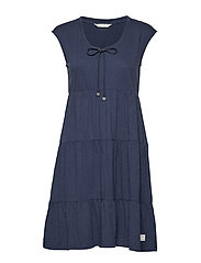 groove romance s/s dress - DARK BLUE