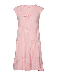 groove romance s/s dress - FLAMINGO