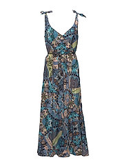 soul mate tie dress - LIGHT TURQUOISE