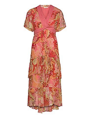 Positano Long Dress - SPICED CORAL