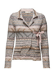 lovely knit jacket - MULTI
