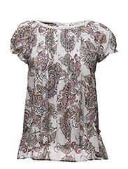 caribou s/s blouse - MULTI