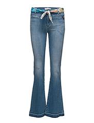 janis stretch flare jean - LIGHT BLUE