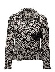 lovely knit jacket - BLACK