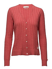 ribbey cardigan - RED