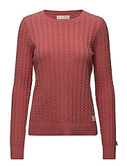 ribbey sweater - RED