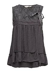 summer night sleeveless blouse - ASPHALT