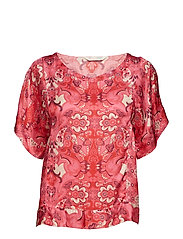 hearth within blouse - HOT PINK