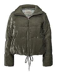 embrace velvet jacket - MISTY GREEN