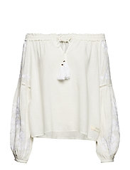 out of sight l/s blouse - OFFWHITE