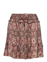 honey-coated skirt - LIGHT MAHOGNY