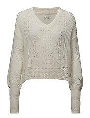 smashing sweater - LIGHT CHALK
