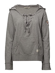 flying high hood sweater - LIGHT GREY MELANGE