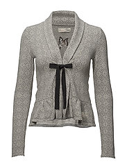 canna cardigan - LIGHT GREY MELANGE