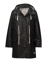 free range rainjacket - ALMOST BLACK