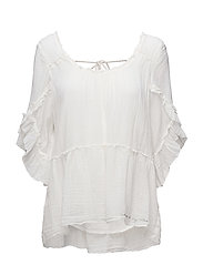 love crush l/s blouse - OFFWHITE