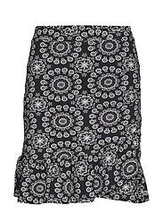 women empire skirt - ALMOST BLACK