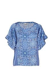 empowher blouse - SEA BLUE