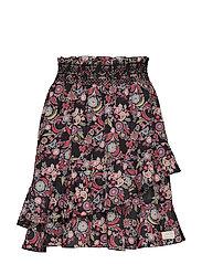 majestic skirt - BLACK MULTI