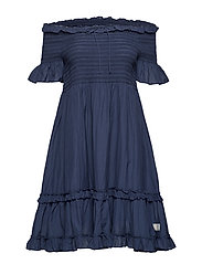 majestic dress - DARK BLUE