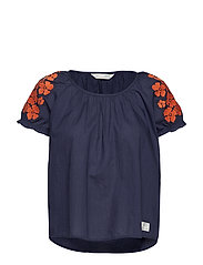 wooo-hooo blouse - DARK BLUE