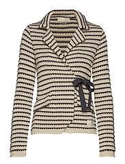 the knit jacket - LIGHT PORCELAIN