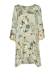 molly-hooked tunic - LICHEN GREEN