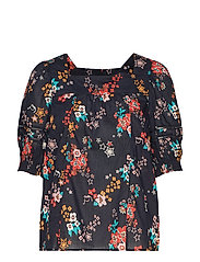 marvelously free blouse - ALMOST BLACK