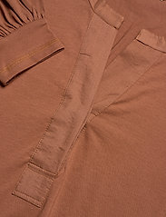ODD MOLLY - Power Sleeve Top - langærmede bluser - coconut brown - 3