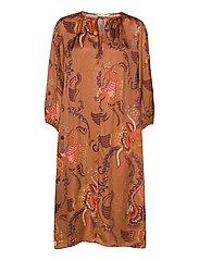 Still Smiling Dress - COCONUT BROWN