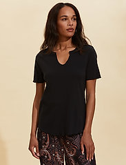ODD MOLLY - Leia S/S Top - t-shirts - almost black - 0