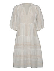 Mariah Dress - LIGHT CHALK SOLID