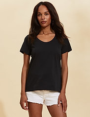 ODD MOLLY - Juliette S/S Top - t-shirts - almost black - 0