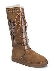 suedey high boot - DESERT