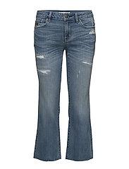 kick it flared jeans - MID BLUE