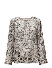 esemble l/s blouse - LIGHT PORCELAIN