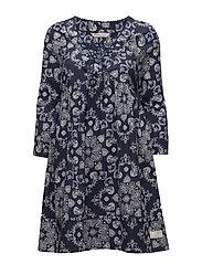 medley dress - DARK BLUE