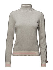 hoower turtleneck - LIGHT GREY MELANGE