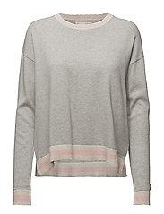 hoower sweater - LIGHT GREY MELANGE