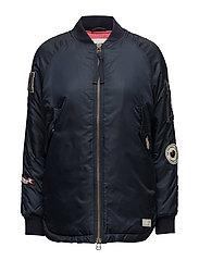 love bomber jacket - FRENCH NAVY