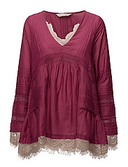 rehearsal l/s blouse - RUBY RED