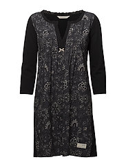 lacey garden dress - ALMOST BLACK