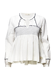 ripple crush blouse - BRIGHT WHITE