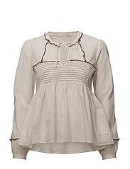 ripple crush blouse - SHEER PINK