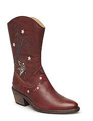 knock me out high boot - RED BROWN