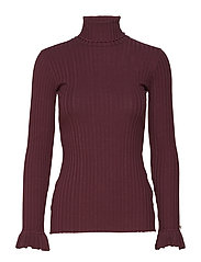 miss turtle l/s top - BURGUNDY